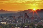 The beautiful skyline of Asheville, NC.